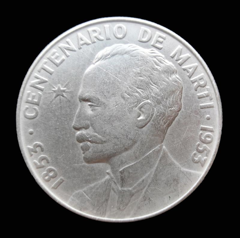 1 Peso (Centenario de José Martí). Cuba. 1953 1953b_10