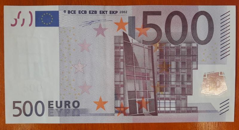 """500€ Serie """"V"""" 20180310"""