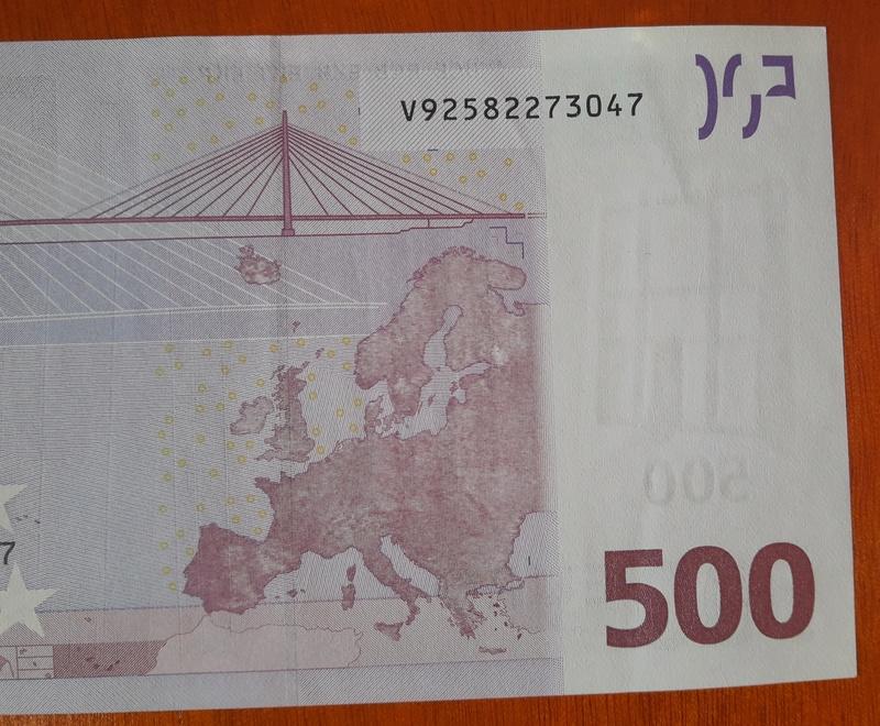 """500€ Serie """"V"""" 20180315"""