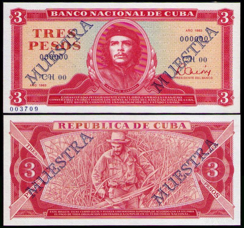 El Billete Cubano de 3 Pesos Cuba_311