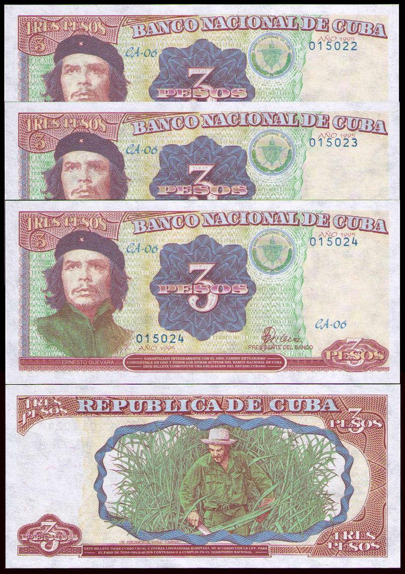 El Billete Cubano de 3 Pesos Cuba_312