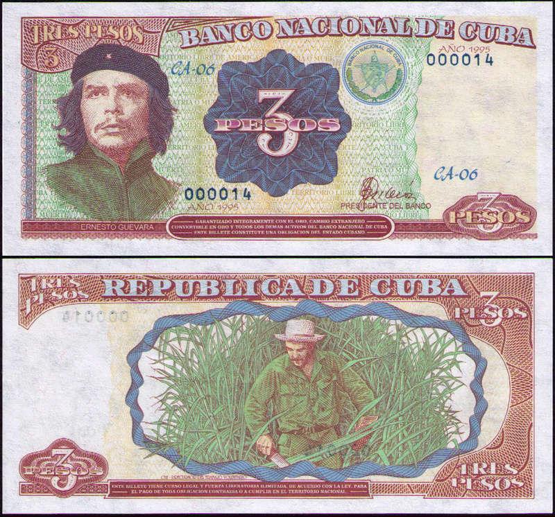 El Billete Cubano de 3 Pesos Cuba_313