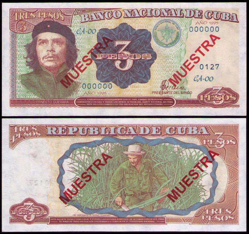 El Billete Cubano de 3 Pesos Cuba_315