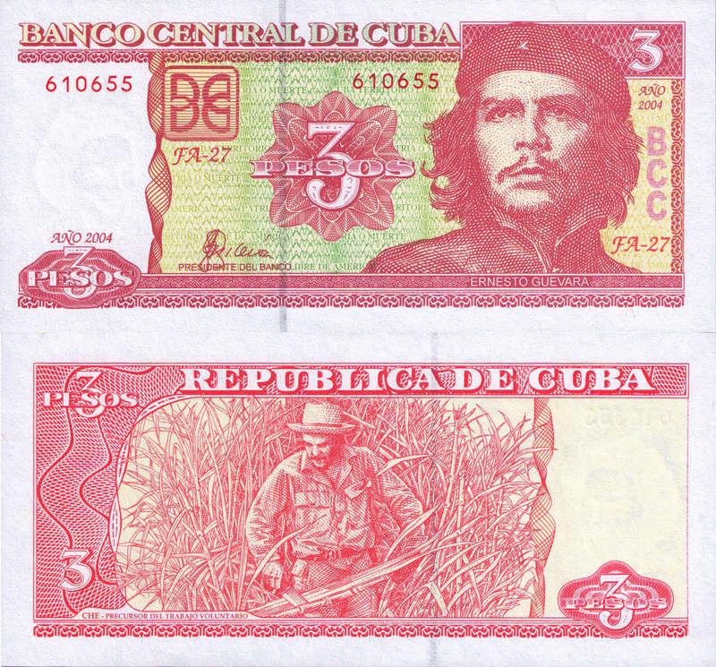 El Billete Cubano de 3 Pesos Cuba_316