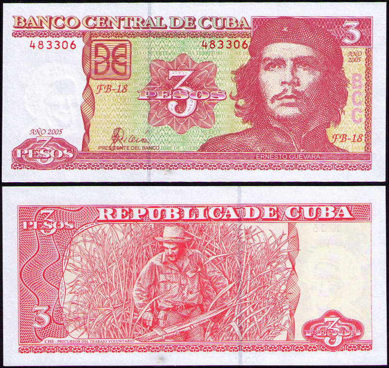 El Billete Cubano de 3 Pesos Cuba_317