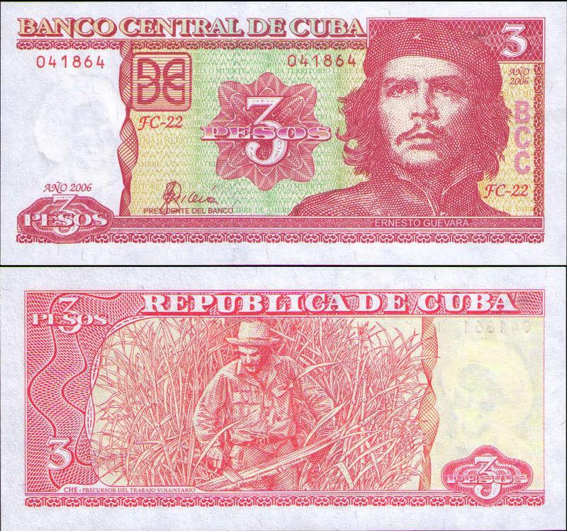 El Billete Cubano de 3 Pesos Cuba_318