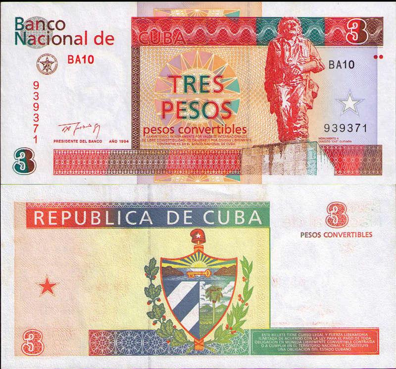 El Billete Cubano de 3 Pesos Cuba_319