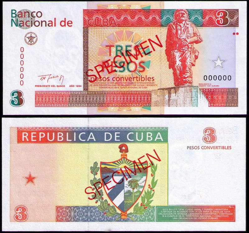 El Billete Cubano de 3 Pesos Cuba_321