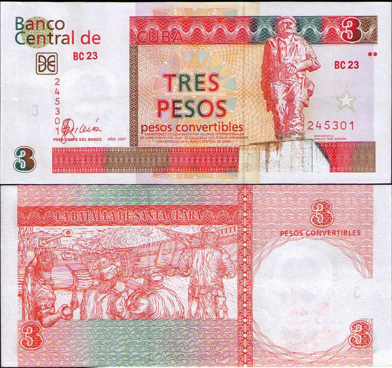 El Billete Cubano de 3 Pesos Cuba_c10