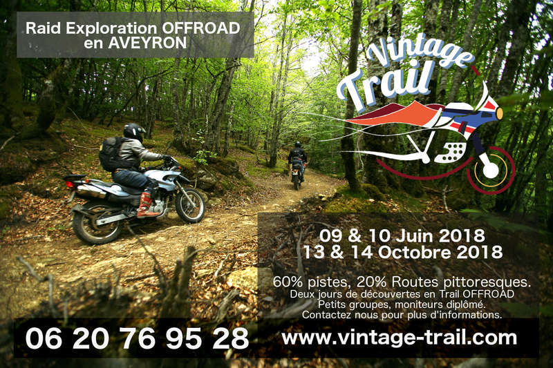 Air Globe / Vintage Trail, Perfectionnement OffRoad et Guide en Aveyron. Raidex10