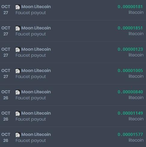 [Provado] Sites moon - receba vários pagamentos diários - Lucro de 297 Doges e 0.03 Litecoin Moon210