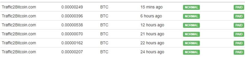 [Provado] Traffic 2 bitcoin - site ptp que paga em bitcoin com mínimo de pagamento de 1 satoshi Pagame15