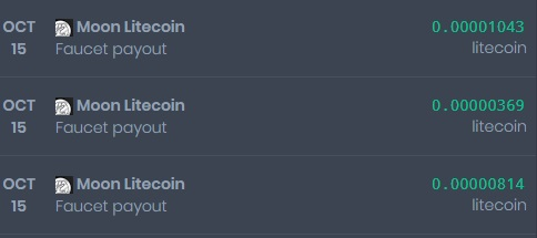 [Provado] Sites moon - receba vários pagamentos diários - Lucro de 297 Doges e 0.03 Litecoin Site310