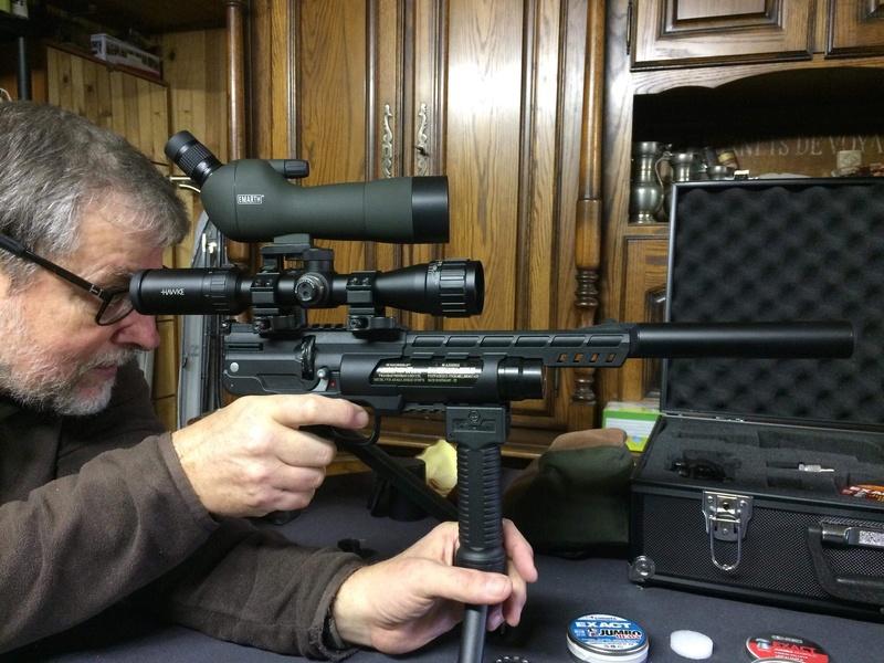 Pistolet weihrauch Hw44 5.5 H&N jsb 1.03g 25m en appui lunette hawke 4-9x32 15bf6e10