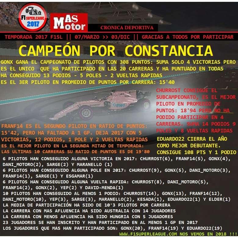 Final de temporada '17 Campeo10
