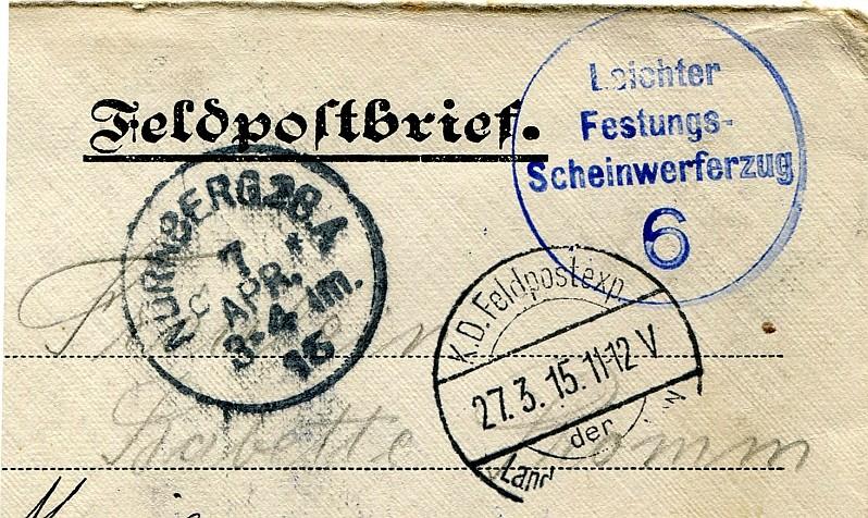 Seltener Stempel 191511