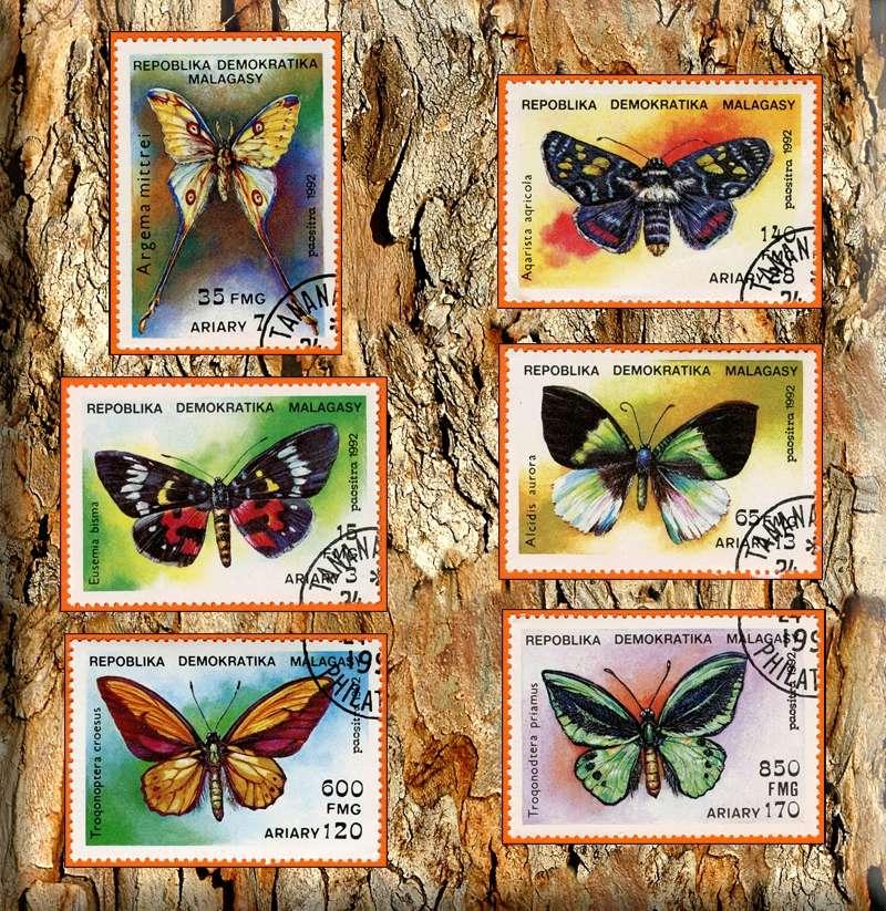 Briefmarken - Schmetterlinge und Libellen - Kleine bunte fliegende Juwele - Seite 2 Madaga10
