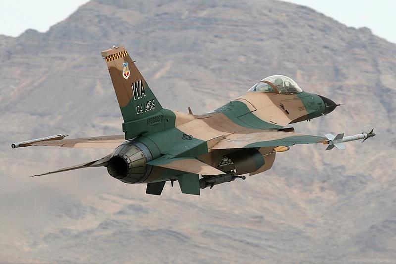PROJECT AGGRESSOR F-16B  F-16C  F-16C 86-02711