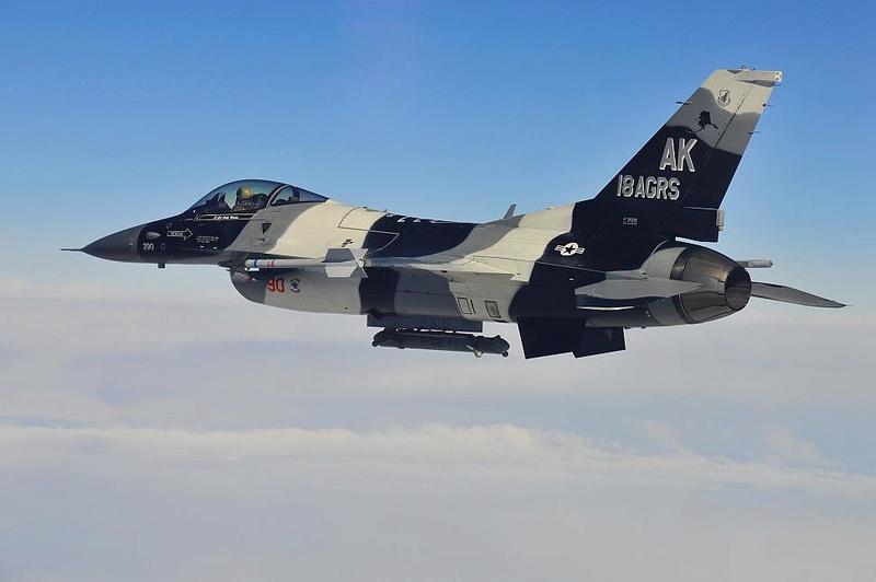 PROJECT AGGRESSOR F-16B  F-16C  F-16C 86-02911