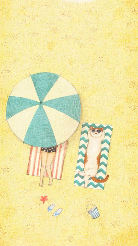 """Illustrations ... pour l'été ... Plage et """"farniente"""" ... - Page 20 018efb10"""