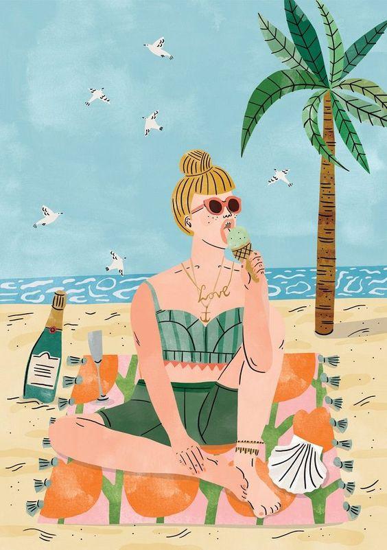 """Illustrations ... pour l'été ... Plage et """"farniente"""" ... - Page 22 12694510"""