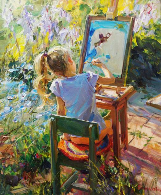 """""""Une peinture pour rêver, voyager, s'émouvoir ...  24200210"""