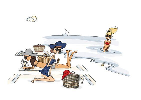 """Illustrations ... pour l'été ... Plage et """"farniente"""" ... - Page 20 370df610"""