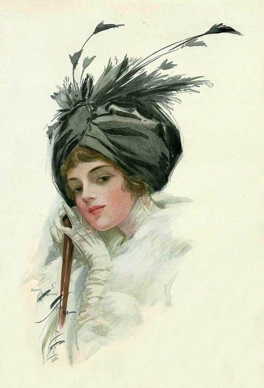 """Des élégantes  """"chapeautées"""" ... - Page 24 3833fc10"""