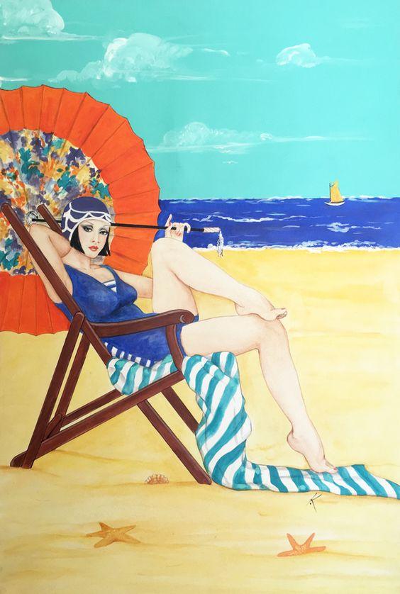 """Illustrations ... pour l'été ... Plage et """"farniente"""" ... - Page 22 41855610"""