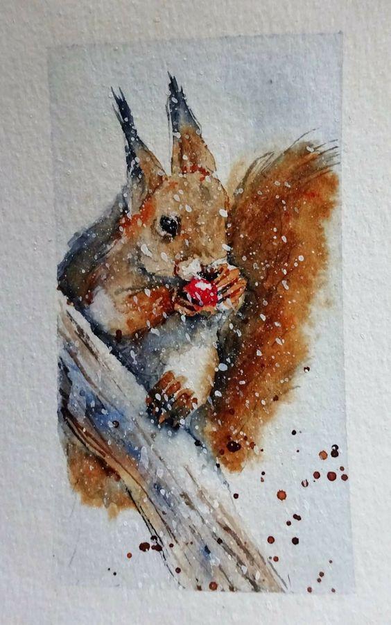 Les animaux peints à l'AQUARELLE - Page 13 609ca210