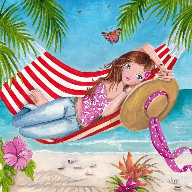 """Illustrations ... pour l'été ... Plage et """"farniente"""" ... - Page 21 70559b10"""