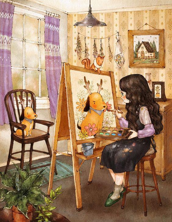 """""""Une peinture pour rêver, voyager, s'émouvoir ...  7608a810"""