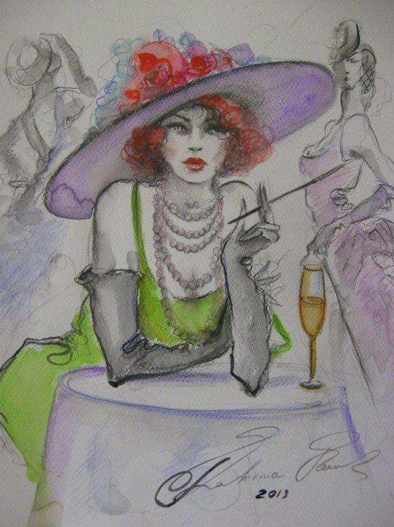 """Des élégantes  """"chapeautées"""" ... - Page 19 8130ab10"""