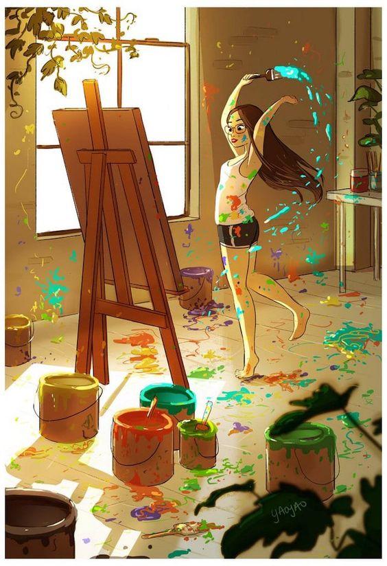 """""""Une peinture pour rêver, voyager, s'émouvoir ...  - Page 3 9fb16210"""
