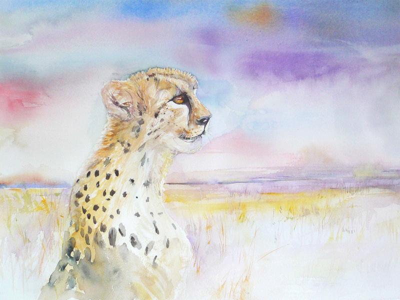 Les animaux peints à l'AQUARELLE - Page 16 Abstra10