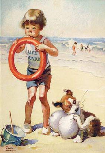 """Illustrations ... pour l'été ... Plage et """"farniente"""" ... - Page 21 B7078610"""