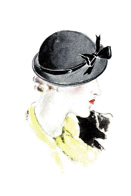 """Des élégantes  """"chapeautées"""" ... - Page 24 D3fe5a10"""