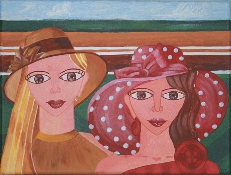 """Des élégantes  """"chapeautées"""" ... - Page 23 Derby-10"""