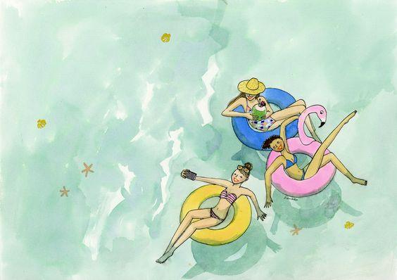 """Illustrations ... pour l'été ... Plage et """"farniente"""" ... - Page 21 E95eb110"""