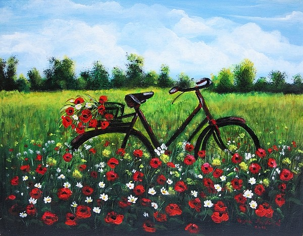 A bicyclette ... Flower14