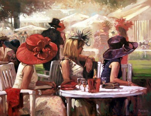 """Des élégantes  """"chapeautées"""" ... - Page 23 Ladies10"""