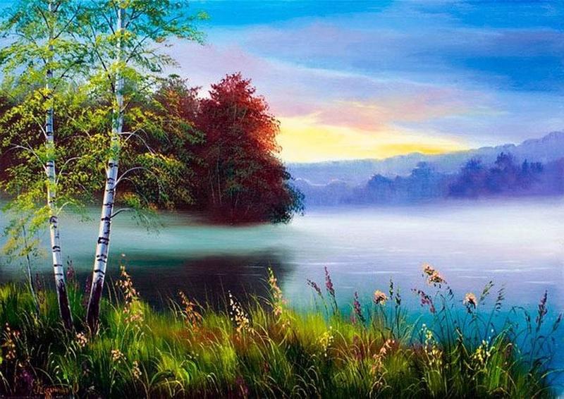 Tous les paysages en peinture. - Page 16 Lakes-11