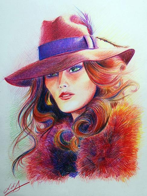 """Des élégantes  """"chapeautées"""" ... - Page 24 Mujer-10"""