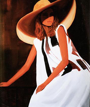 """Des élégantes  """"chapeautées"""" ... - Page 23 Peintu17"""