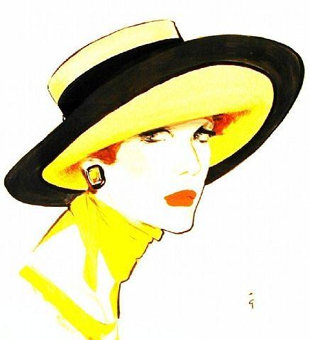 """Des élégantes  """"chapeautées"""" ... - Page 23 Rene_g12"""