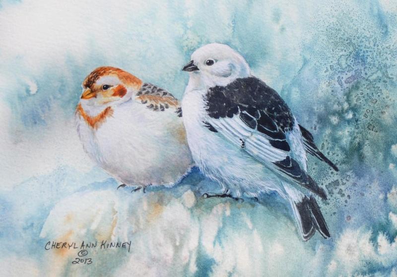 Les animaux peints à l'AQUARELLE - Page 12 Snow-b10