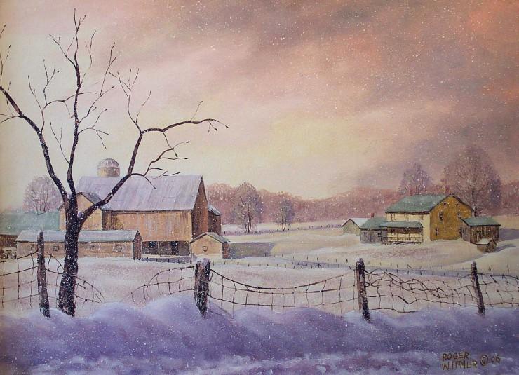 Tous les paysages en peinture. - Page 14 Winter25