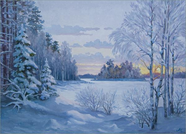 Tous les paysages en peinture. - Page 14 Winter26