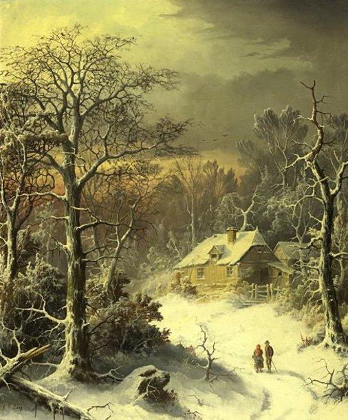 Tous les paysages en peinture. - Page 14 Winter27