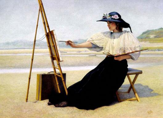 """""""Une peinture pour rêver, voyager, s'émouvoir ...  - Page 3 Woman-12"""
